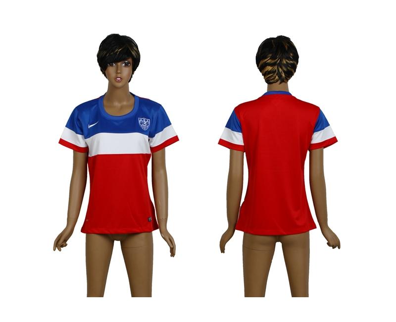 USA 2014 Wolrd Cup Away Soccer Women Jerseys
