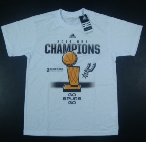 Spurs 2014 NBA Champions White Locker Room T-Shirts