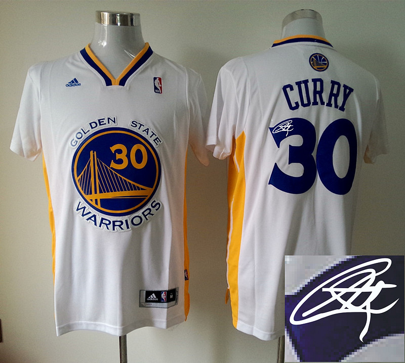 Warriors 30 Curry White Signature Edition Jerseys