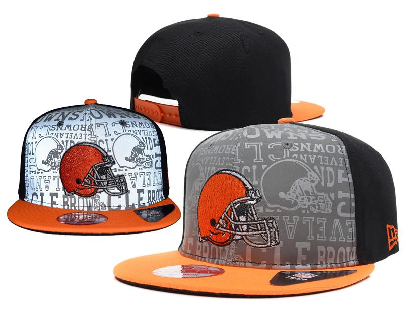 Browns 2014 NFL Draft Reflective Snapback Cap