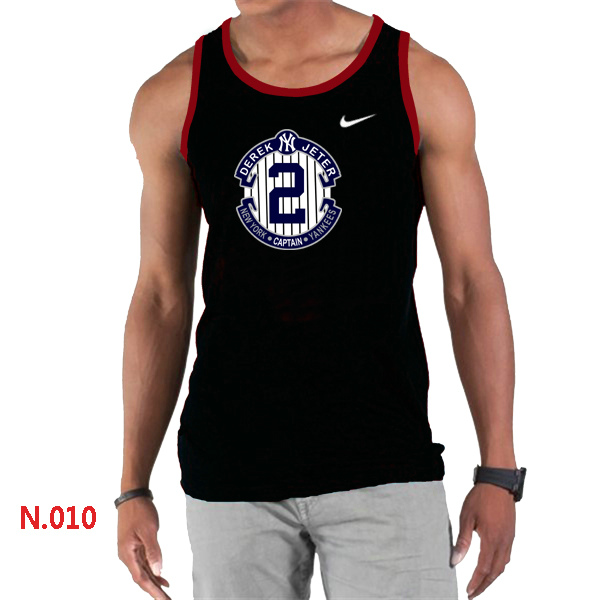 Nike Derek Jeter New York Yankees Final Season Commemorative Logo men Tank Top Black