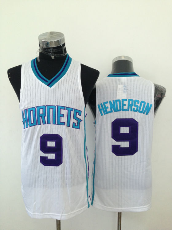 Hornets 9 Henderson White New Revolution 30 Jerseys