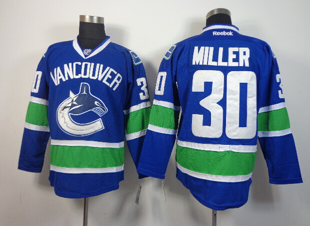 Canucks 30 Miller Blue Jerseys