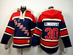 Rangers 30 Lundqvist Dark Blue Hoodies Jerseys