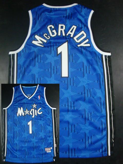 Magic 1 McGrady Blue Hardwood Classics Jerseys