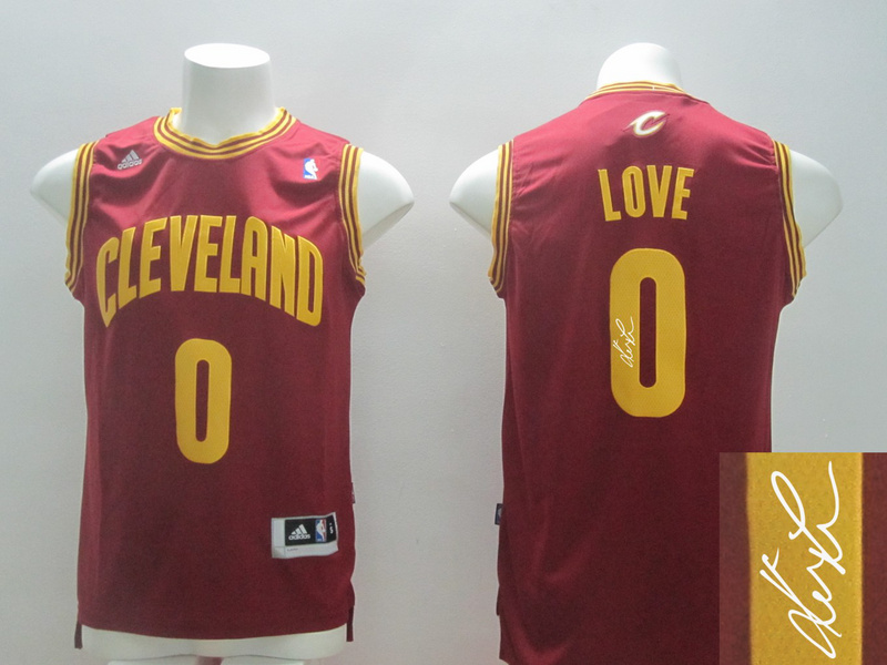 Cavaliers 0 Love Red Signature Edition Jerseys