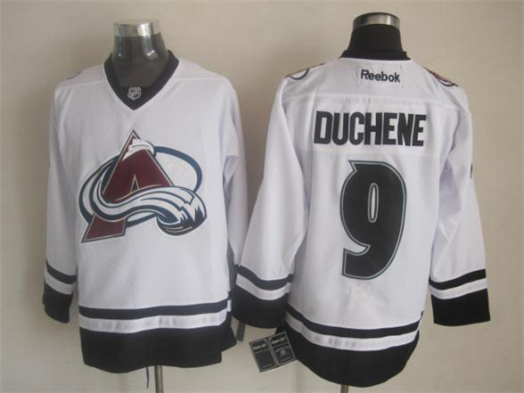 Avalanche 9 Duchene White New Reebok Jerseys