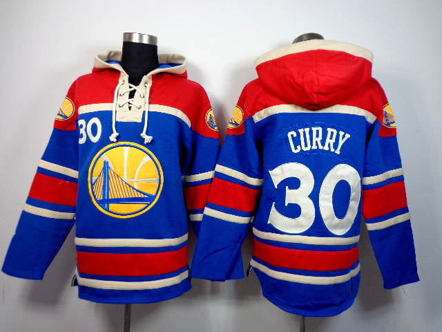 Warriors 30 Stephen Curry Blue All Stitched Hooded Sweatshirt