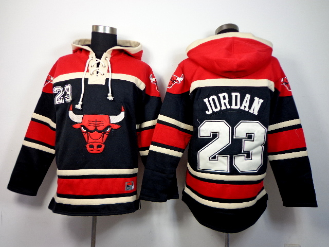 Bulls 23 Michael Jordan Blue All Stitched Hooded Sweatshirt