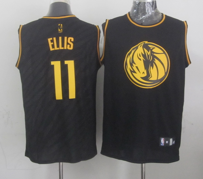 Mavericks 11 Ellis Black Precious Metals Fashion Jerseys