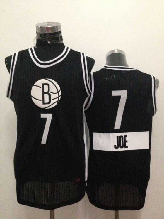 Nets 7 Joe Johnson Black 2014-15 Christmas Day Swingman Jerseys