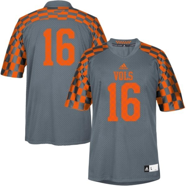 Tennessee Volunteers 16 Peyton Manning Grey College Football Techfit NCAA Jersey