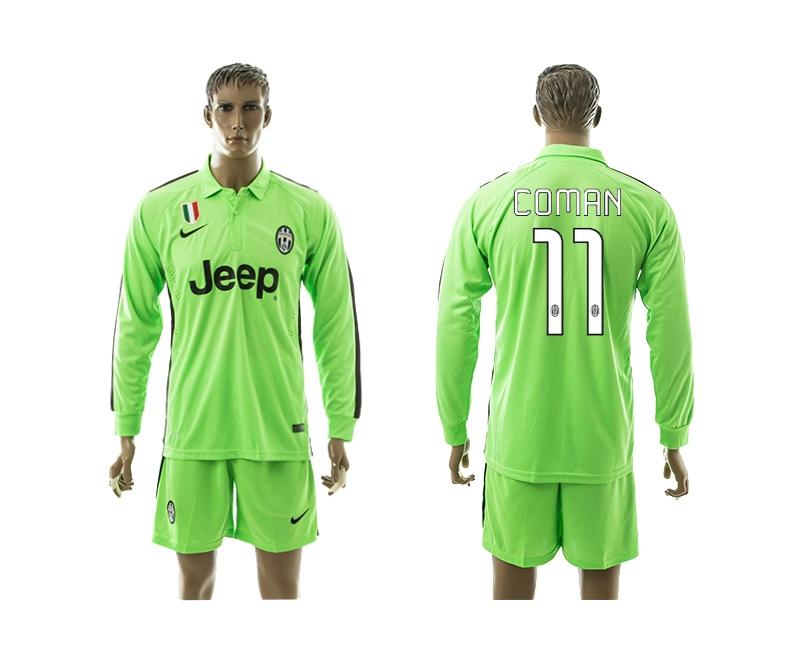 2014-15 Juventus 11 Coman Third Away Long Sleeve Jerseys