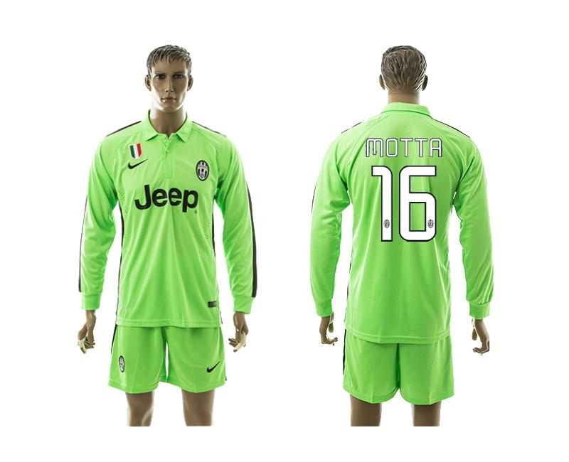 2014-15 Juventus 16 Motta Third Away Long Sleeve Jerseys