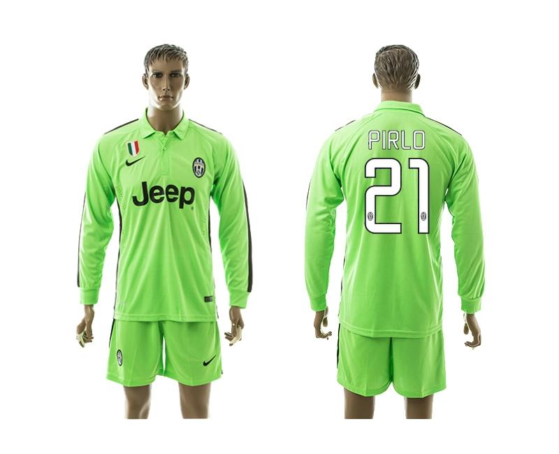 2014-15 Juventus 21 Pirlo Third Away Long Sleeve Jerseys