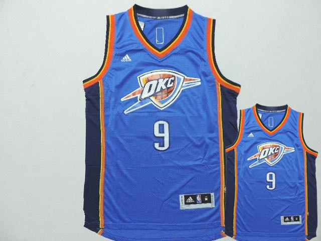Thunder 9 Serge Ibaka Blue 2014 15 Christmas Day Swingman Jerseys