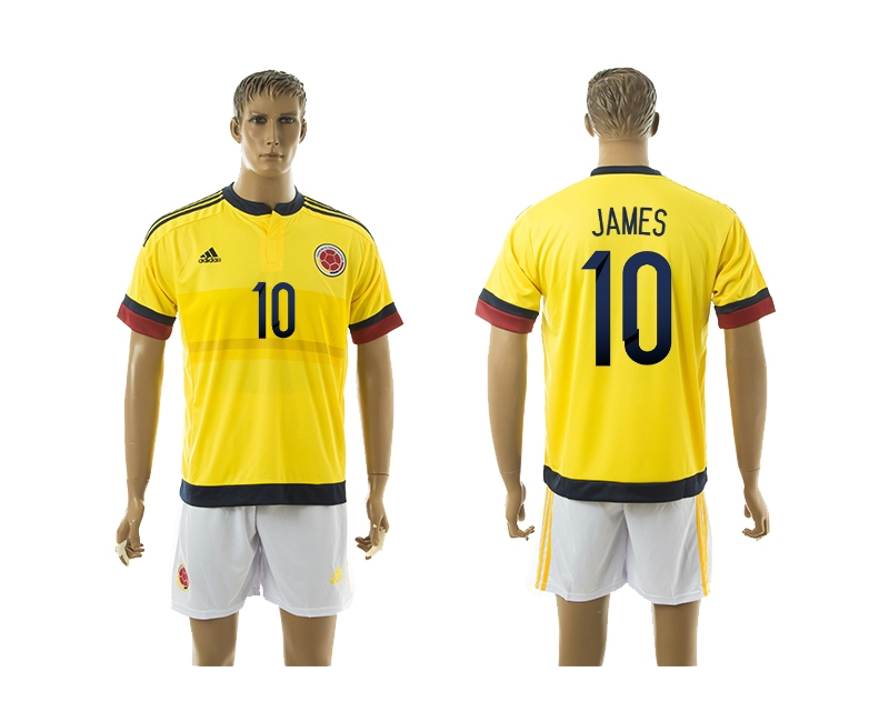 2014-15 Columbia 10 James Home Soccer Jersey
