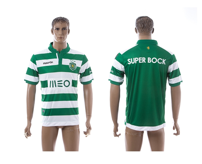 2014-15 Sporting Lisbon Home Thailand Jerseys