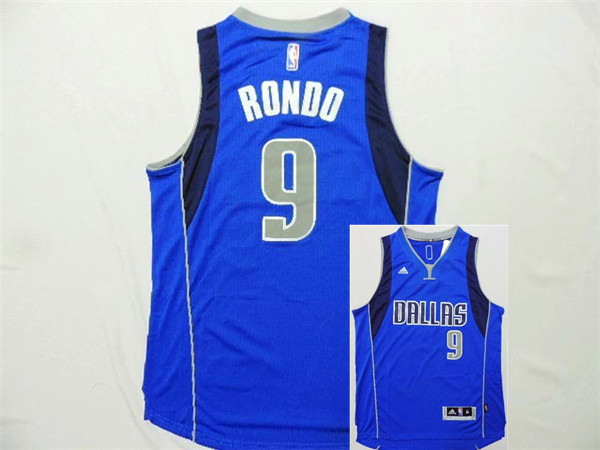 Mavericks 9 Rondo Blue New Revolution 30 Jerseys