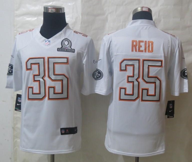 Nike 49ers 35 Reid White 2014 Pro Bowl Jerseys