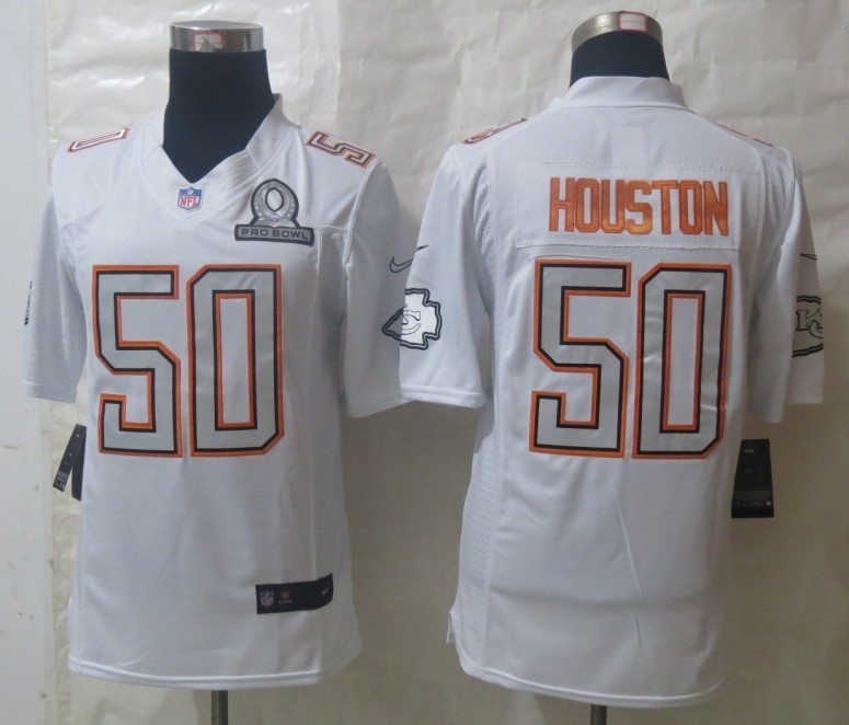 Nike Chiefs 50 Houston White 2014 Pro Bowl Jerseys