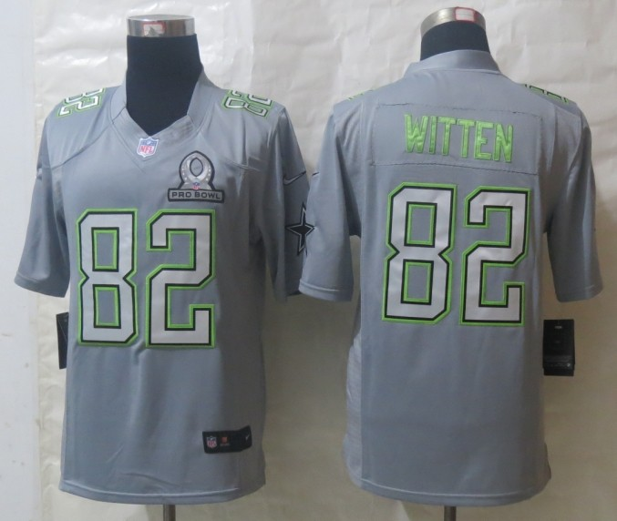 Nike Cowboys 82 Witten Grey 2014 Pro Bowl Jerseys