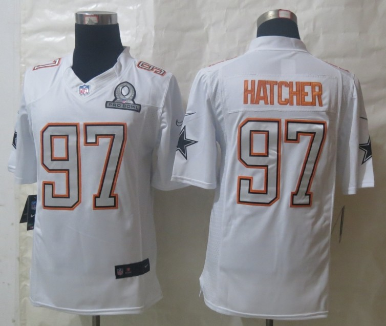 Nike Cowboys 97 Hatcher White 2014 Pro Bowl Jerseys
