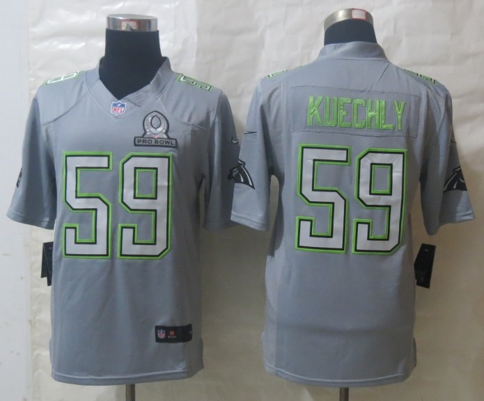 Nike Panthers 59 Kuechly Grey 2014 Pro Bowl Jerseys