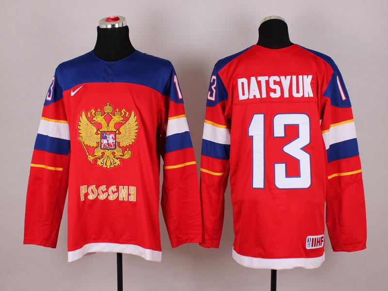 Russia 13 Datsyuk Red 2014 Olympics Jerseys