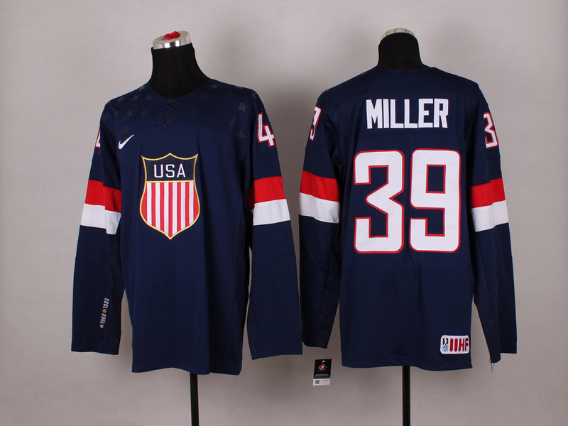 USA 39 Miller Blue 2014 Olympics Jerseys