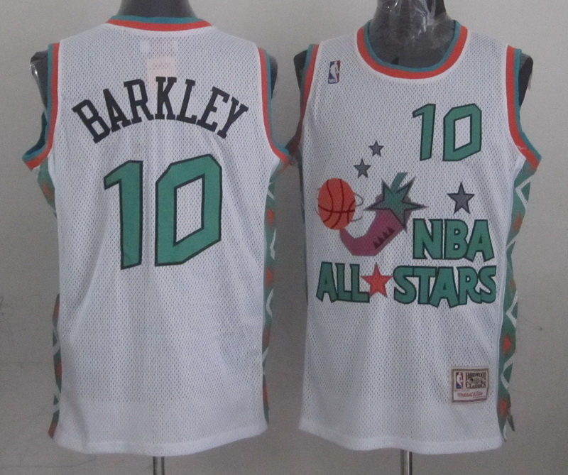 1996 All Star 10 Barkley White Jerseys