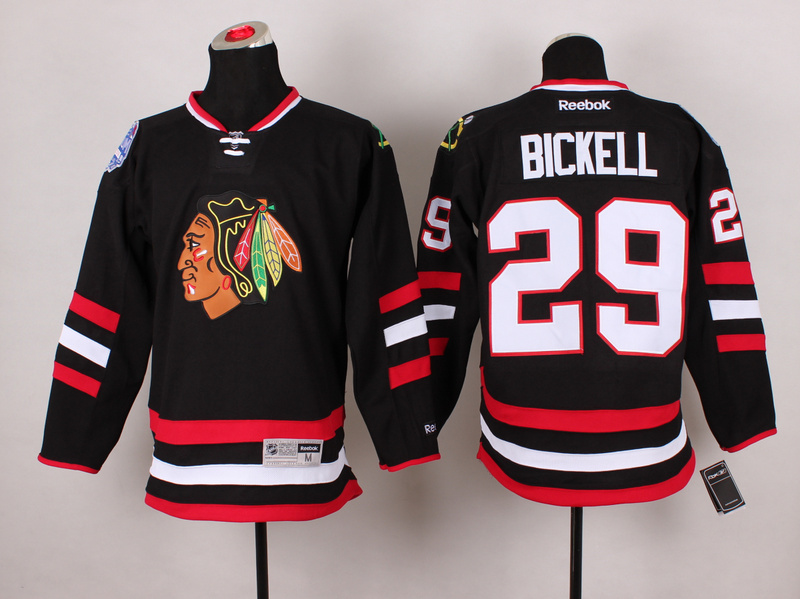 Blackhawks 29 Bickell Black 2014 Stadium Series Jerseys