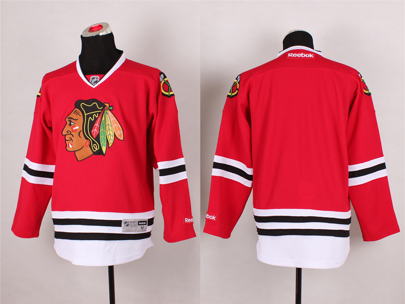 Blackhawks Blank Red 2014 Stadium Series Jerseys