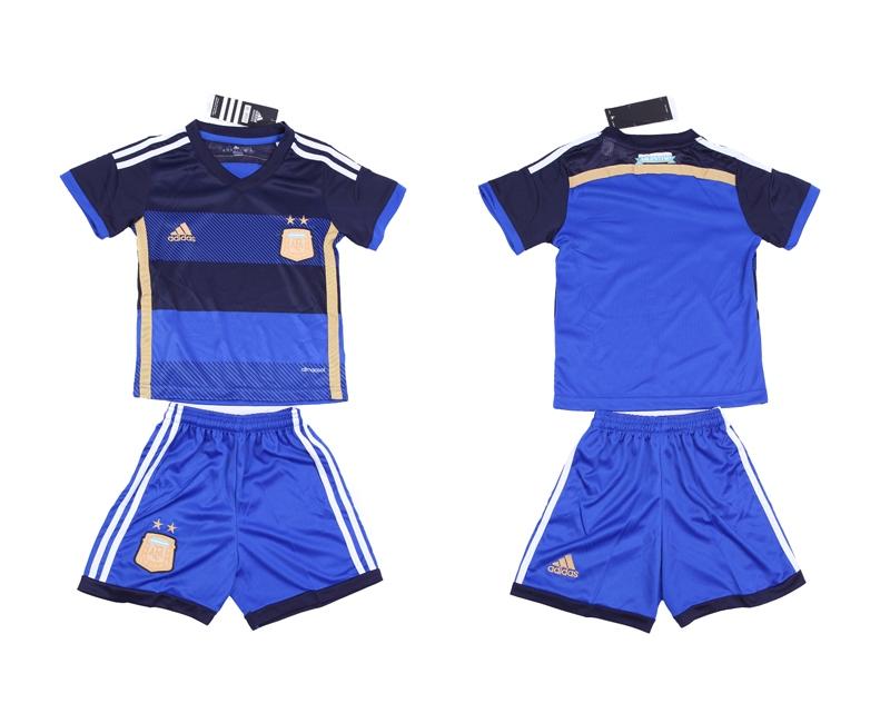 2014 World Cup Argentina Away Kids Jerseys