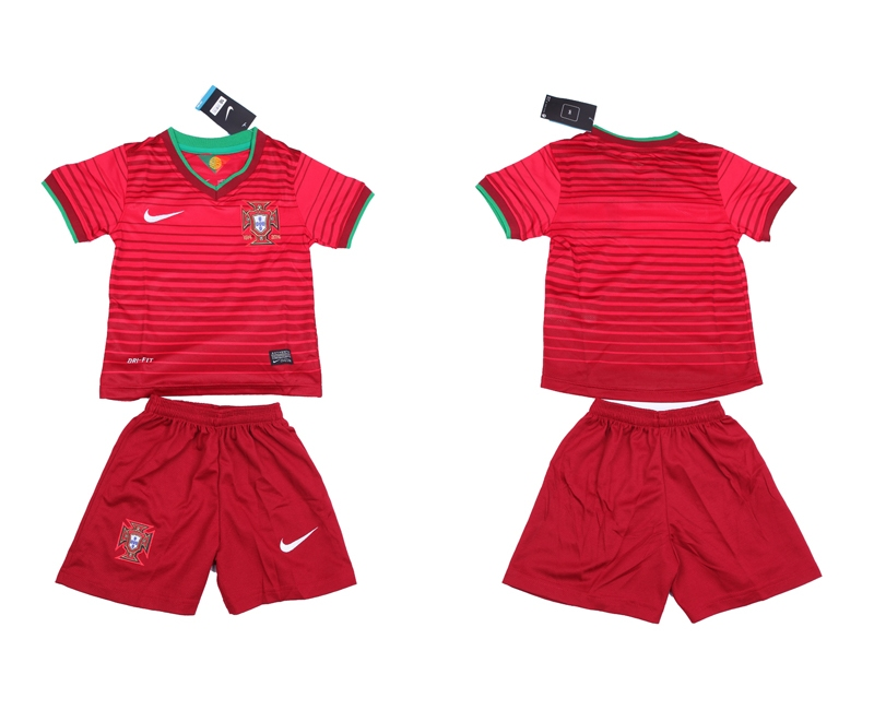 2014 World Cup Portugal Home Kids Jerseys