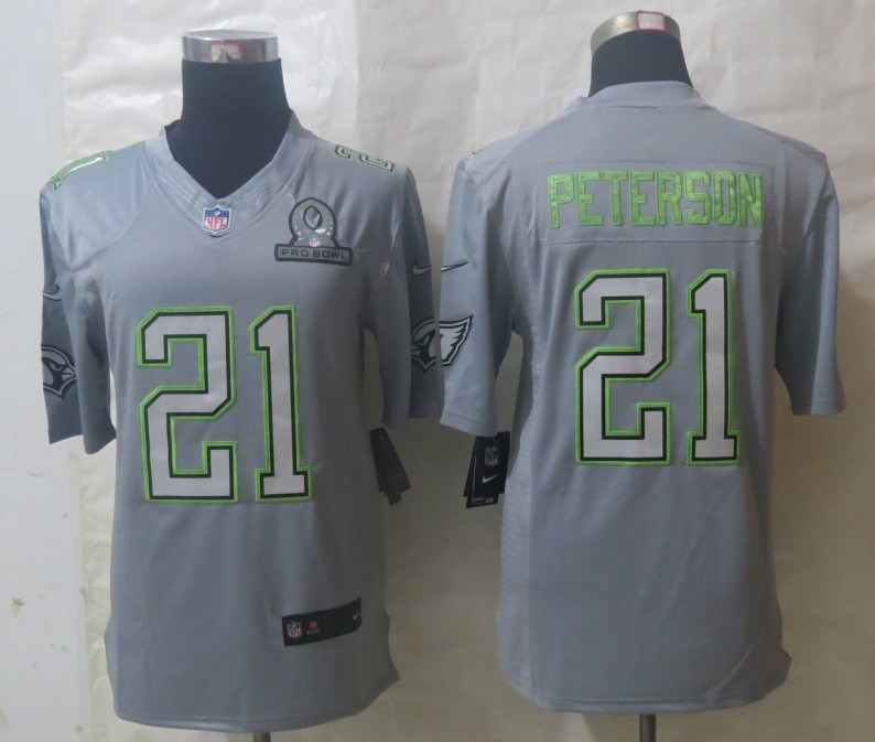 Nike Cardinals 21 Peterson Grey 2014 Pro Bowl Jerseys