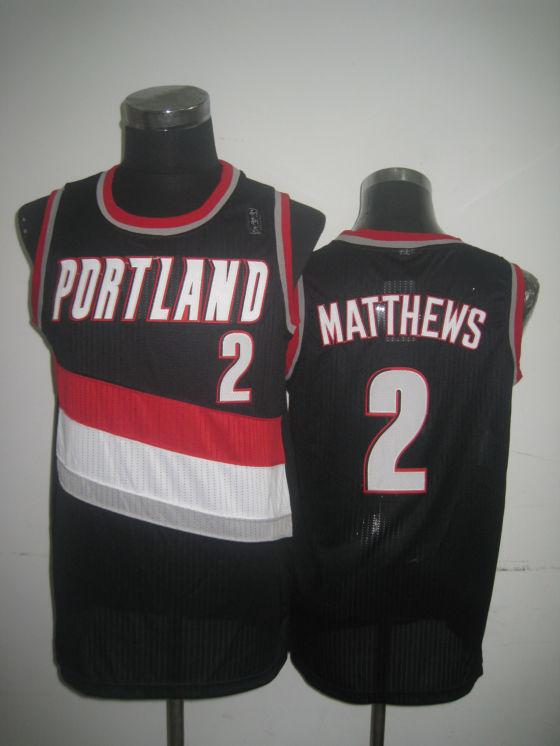Blazers 2 Matthews Black Jerseys