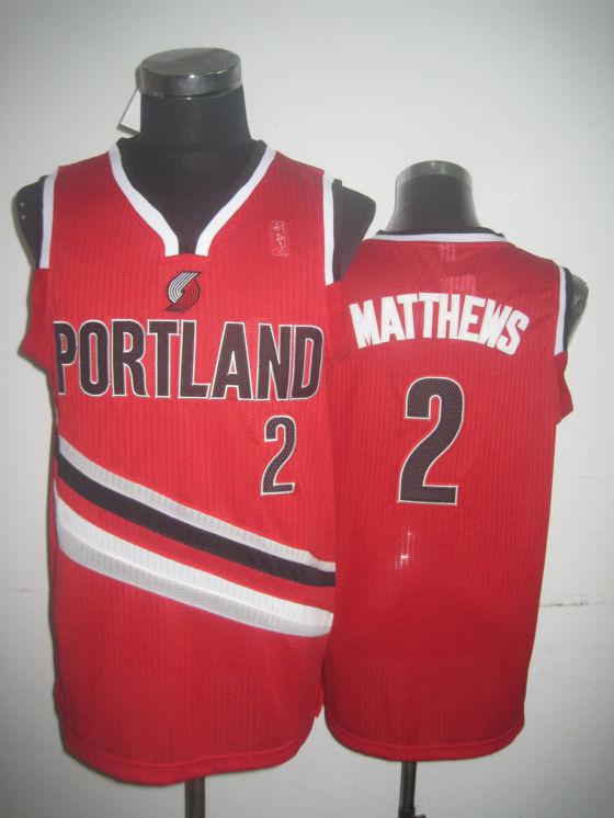Blazers 2 Matthews Red Jerseys