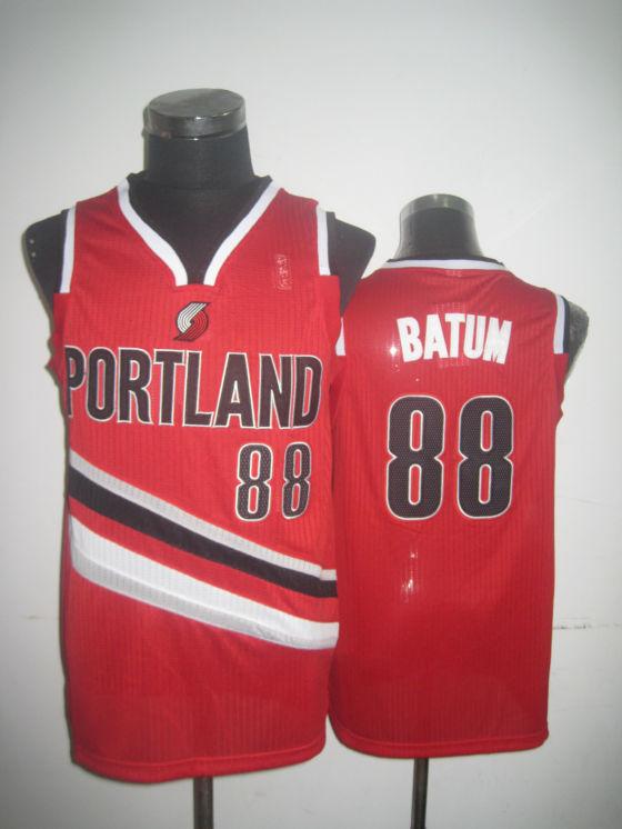 Blazers 88 Batum Red Jerseys