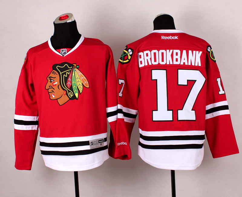 Blackhawks 17 Brookbank Red 2014 Stadium Series Jerseys