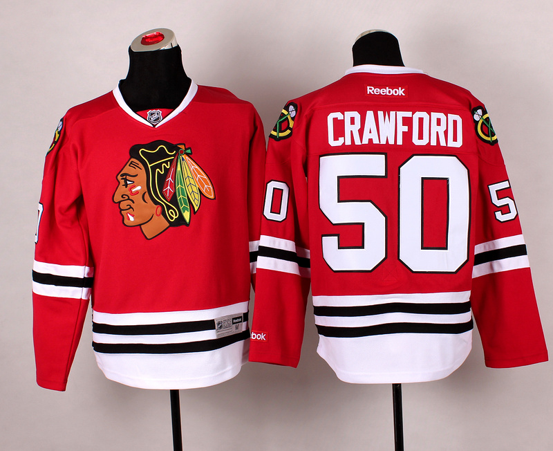 Blackhawks 50 Crawford Red 2014 Stadium Series Jerseys