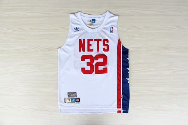 Nets 32 Erving White Hardwood Classics Swingman Jerseys