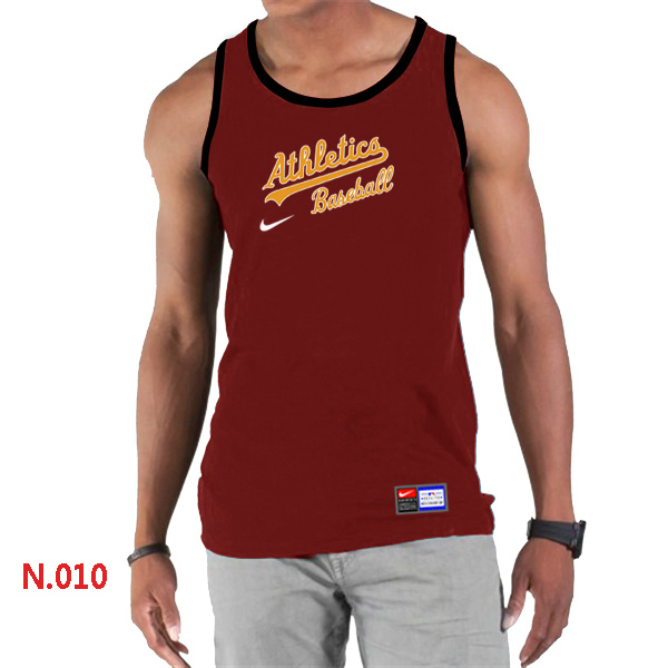 Nike Oakland Athletics Home Practice Men Tank Top Red
