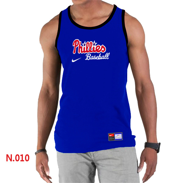 Nike Philadelphia Phillies Home Practice Men Tank Top Blue