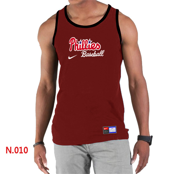 Nike Philadelphia Phillies Home Practice Men Tank Top Red
