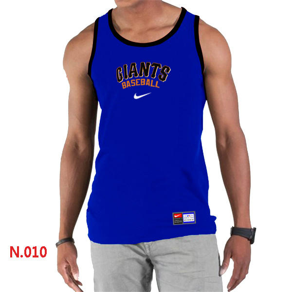 Nike San Francisco Giants Home Practice Men Tank Top Blue