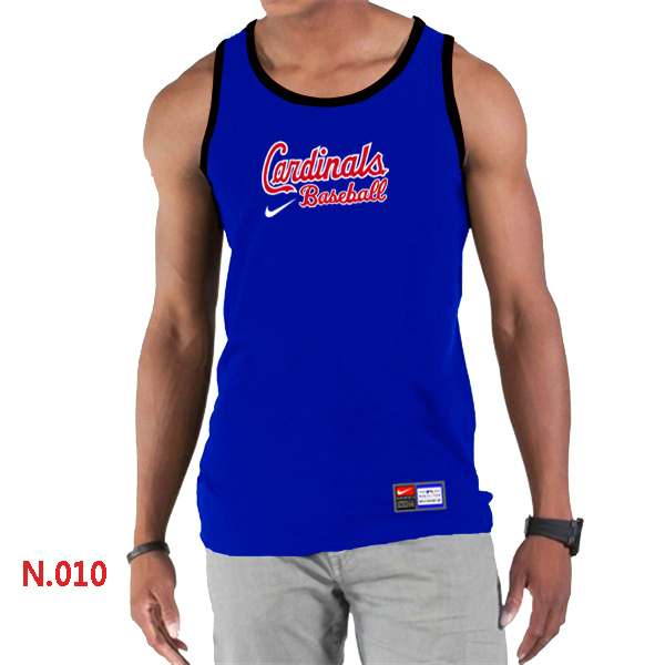 Nike St.Louis Cardinals Home Practice Men Tank Top Blue
