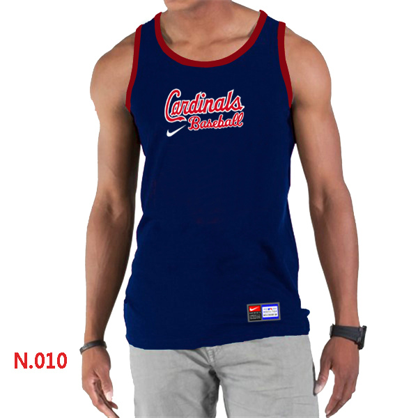Nike St.Louis Cardinals Home Practice Men Tank Top D.Blue
