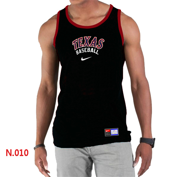 Nike Texans Rangers Home Practice Men Tank Top Black