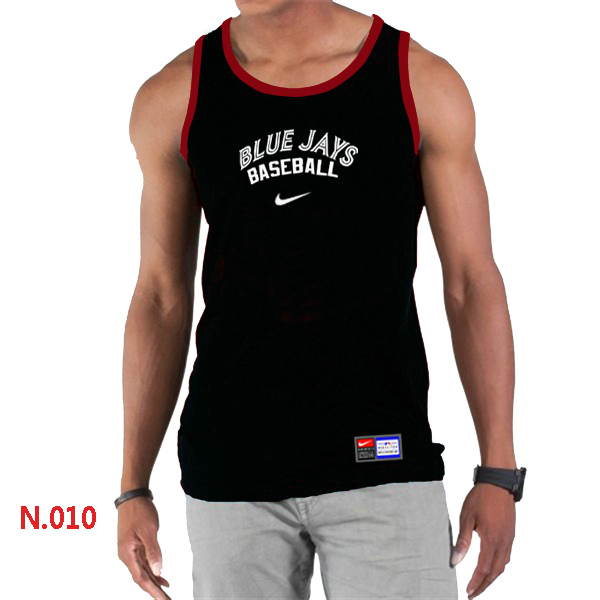 Nike Toronto Blue Jays Home Practice Men Tank Top Black